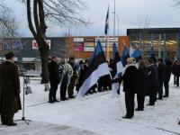 002  3. jaanuar Pärnus Alevi kalmistul. Foto: Lembit Miil