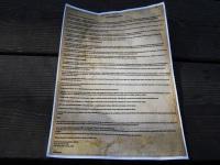 Aivo Petersoni koostatud manifest. Foto: Eva Poljakova