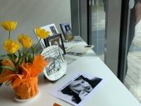 Alo Mattiiseni teemaline näitus Jõgeva raamatukogus. Foto: Kristi Pukk
