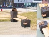 004 Ants Pajule pühendatud skulptuurpingi avamine. Foto: Sirje Kalev