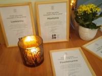 Tunnustuskirjad Avinurme piirkonna küladele Avinurme kultuurikeskuses. Foto: Jaan Lukas