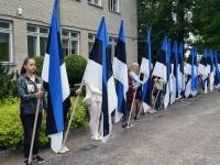 003 Eesti lipu 134. aastapäev Sindis. Foto: Urmas Saard