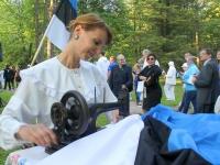 003 Eesti lipu 135. sünnipäeva tähistamine Põltsamaal. Foto: Väino Valdmann