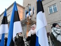 009 Eesti Vabariigi 100. juubeli hommik Sindis. Foto: Urmas Saard