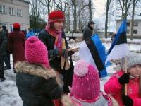 006 Eesti Vabariigi 98. aastapäeva tähistamine Sindis. Foto: Urmas Saard
