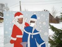 Meelelahutus jõuludeks ja aastavahetuseks Mustvee valla Raja külas. Foto: Jaan Lukas / Külauudised