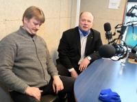Garri Raagma ja Andres Sooniste Tre Raadio Pärnu stuudios. Foto: Urmas Saard / Külauudised