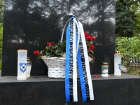 1 II maailmasõjas Eesti riikliku iseseisvuse taastamise eest võidelnute mälestusmärk Pärnus. Foto: Urmas Saard / Külauudised