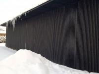 Jääpurikad Jõgeva Majandusühistu Sadala kaupluse hoonel. Foto: Jaan Lukas
