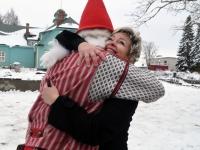 002 Jõulutaat Olle ja päkapikk Jan Vohnja Lasteaed-Algkoolis Foto Urmas Saard
