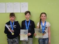 N-14 klassi võitjad Kaur Erik Tamm, Rasmus Blitner ja Karin Mets. Foto: Karmen Mets