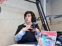 Mari Suurväli Tre Raadio Pärnu stuudios. Foto: Urmas Saard / Külauudised