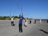 017 Kepikõndijad Pärnu rannas. Foto: Urmas Saard / Külauudised