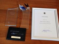 009 Siseministeeriumi auhind jõudis Sinti. Foto: Urmas Saard