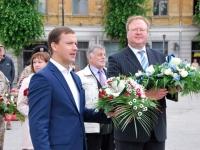 03 Tõnis Nirk, Eesti suursaadik Lätis, Võnnu mälestusobeliski juures 22. juunil 2015