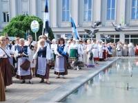 016 Lipu päeva tähistamine Rüütli platsil ja rongkäiguga. Foto: Urmas Saard