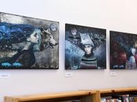 001 Made Balbati näituse avamine Sindi raamatukogus. Foto: Urmas Saard