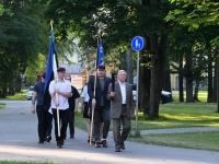 Mälestustule teekonnal Pärnust Paidesse. Foto: Urmas Saard / Külauudised