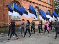 002 Maraton Eesti Vabariik 100 läbib Sindit. Foto: Urmas Saard