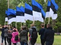 004 Maraton Eesti Vabariik 100 läbib Sindit. Foto: Urmas Saard