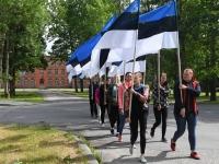 005 Maraton Eesti Vabariik 100 läbib Sindit. Foto: Urmas Saard