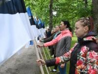 012 Maraton Eesti Vabariik 100 läbib Sindit. Foto: Urmas Saard