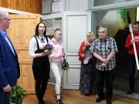 Maris Volteini viimane tööpäev Sindi gümnaasiumi kantselei juhataja ametis. Foto: Urmas Saard / Külauudised