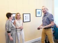 """Marko Toomasti näituse """"Betula"""" avamine Tallinna Ülikooli Akadeemilise Raamatukogu teise korruse galeriis. Foto. Urmas Saard / Külauudised"""