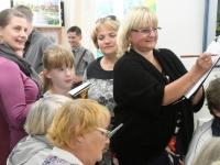 015 Olga Belash-Karasjova isikunäituse avamine Sindi muuseumis. Foto: Urmas Saard