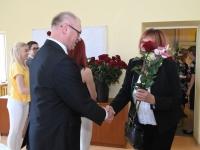 035 Õpetajate päeva tähistamine Sindi gümnaasiumis. Foto: Urmas Saard