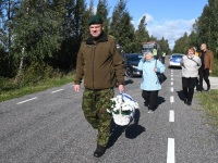 001 Paadipõgenike mälestuseks kuju avamine Puise ninal. Foto: Urmas Saard / Külauudised