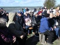 009 Paadipõgenike mälestuseks kuju avamine Puise ninal. Foto: Urmas Saard / Külauudised