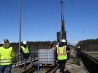 Papiniidu uue raudteesilla geotehnilised uuringud. Foto: Urmas Saard / Külauudised