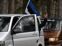 Pärnakad 20. märtsi autosõidul. Foto: Urmas Saard / Külauudised