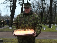 016Pärnu Alevi kalmistul 102 aastat pärast Vabadussõja algust. Foto: Urmas Saard / Külauudised