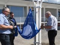 004 Pärnu keskrannas lehvib sinilipp. Foto: Urmas Saard / Kälauudised