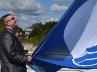 005 Pärnu keskrannas lehvib sinilipp. Foto: Urmas Saard / Kälauudised