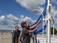 007 Pärnu keskrannas lehvib sinilipp. Foto: Urmas Saard / Kälauudised