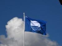 012 Pärnu keskrannas lehvib sinilipp. Foto: Urmas Saard / Kälauudised