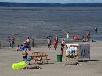 013 Pärnu keskrannas lehvib sinilipp. Foto: Urmas Saard / Kälauudised