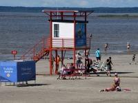 016 Pärnu keskrannas lehvib sinilipp. Foto: Urmas Saard / Kälauudised