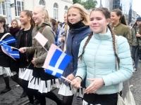 013 Pärnu linn XII noorte laulupeo rongkäigus. Foto: Urmas Saard