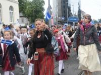 024 Pärnu linn XII noorte laulupeo rongkäigus. Foto: Urmas Saard