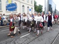 028 Pärnu linn XII noorte laulupeo rongkäigus. Foto: Urmas Saard