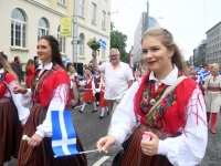 031 Pärnu linn XII noorte laulupeo rongkäigus. Foto: Urmas Saard