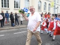 032 Pärnu linn XII noorte laulupeo rongkäigus. Foto: Urmas Saard