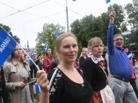 050 Pärnu linn XII noorte laulupeo rongkäigus. Foto: Urmas Saard