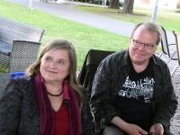 011 Riita Leivo ja Kari Pulakka Pärnu Nullpunktis. Foto: Urmas Saard