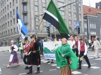 015 Pärnumaalased XII noorte laulupeo rongkäigus. Foto: Urmas Saard