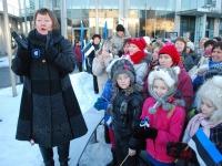 ERR tegi otsetselülituse eetrisse Pärnus kontserdimaja esiselt väljakult priiuse põlistumise päeva hommikul kell 7.20. Foto: Urmas Saard